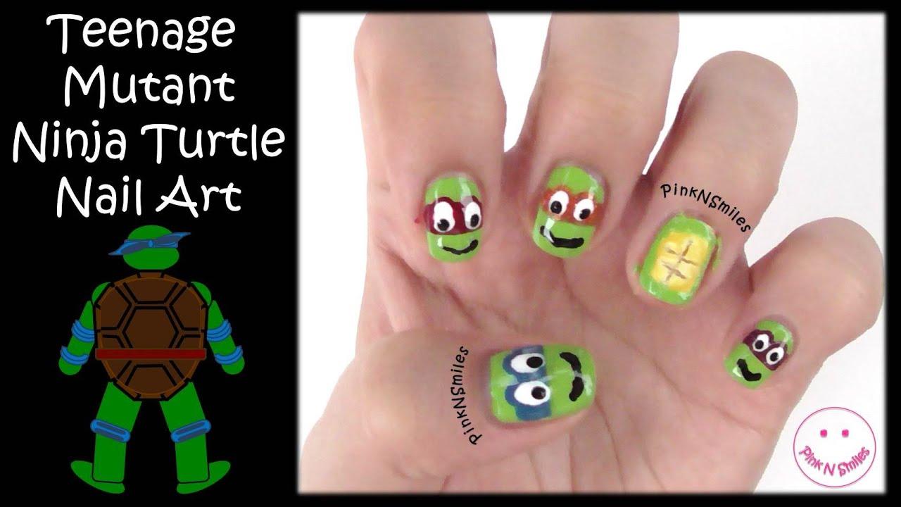 Teenage Mutant Ninja Turtles Nail Art - YouTube