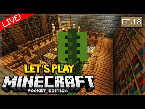[LIVE NOW] Let's Play Minecraft Pocket Edition 1.0 - Stronghold Hunt! Episode 18 (Pocket Edition)