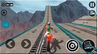 Impossible Motor Bike Tracks 3d #Dirt Motor Cycle Racer Game #Bike Games For Android