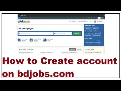 How to Create a Account on bdJobs com