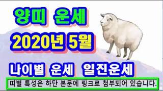 5월 양띠 운세 - 2020년 5월 경자년 신사월 양띠 일진 사주 운세보기