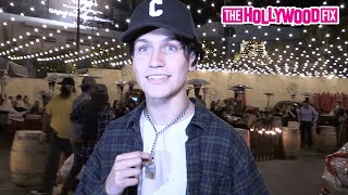 Chase Hudson Makes His Biggest Fan's Dream Come True & Shows Off His New Outfit At Saddle Ranch
