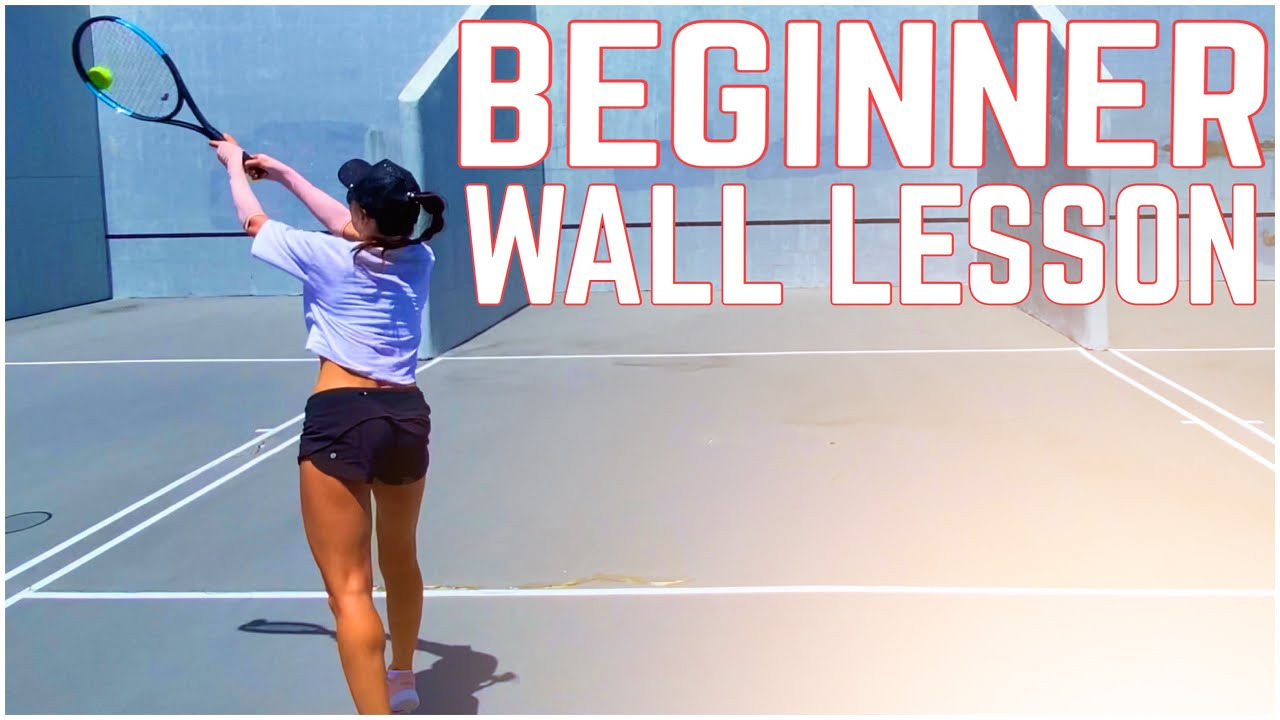 Beginner Tennis Wall Lesson | Forehand, Backhand & Volleys