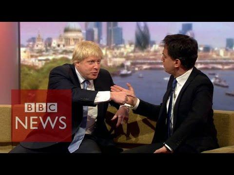 Election 2015: Boris Johnson & Ed Miliband clash on Marr - BBC News