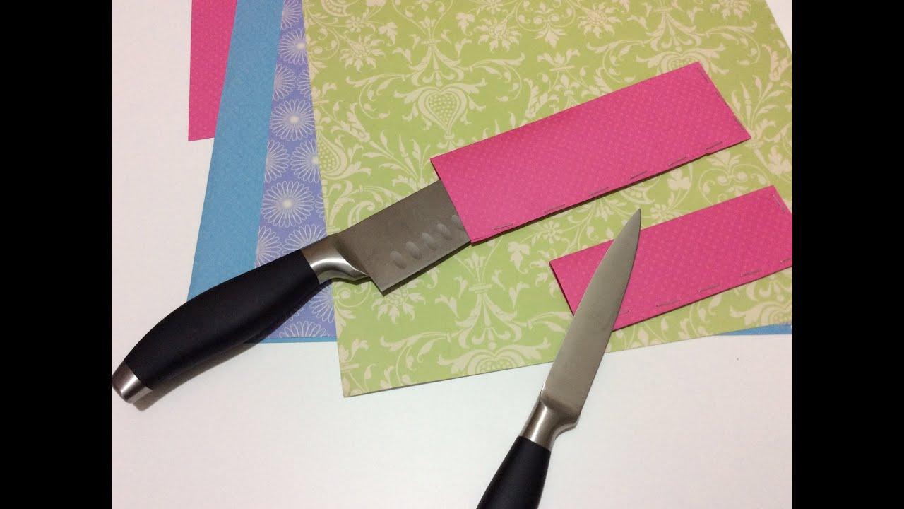 Tutorial diy funda cuchillos casera youtube - Como hacer soporte para cuchillos ...