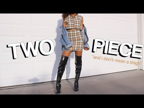 CLOSET RECREATIONS EP. 3 Turn Old Clothes Into New! HOW TO MAKE A TWO PIECE MATCHING SET OUTFIT