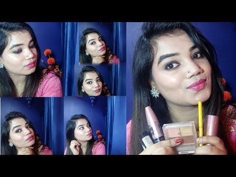 How to :||using only 5 product || Winter easy & simple go glam look 2018 Indian fashion and beauty .