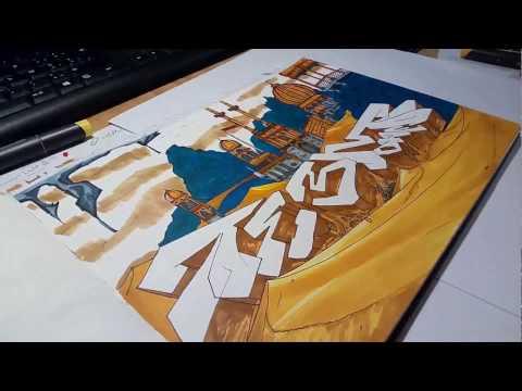 ⚫️ Graffiti Blackbook Sketch  ⚫️TeeM1
