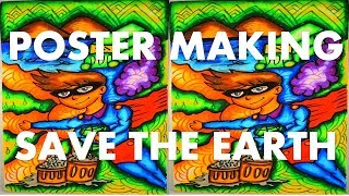 SAVE THE EARTH DRAWING/ POSTER MAKING SAVE THE EARTH/ EARTH DAY