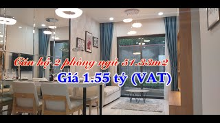 Căn hộ Bcons Green View 2 phòng ngủ, 2 vệ sinh diện tích 51.33m2