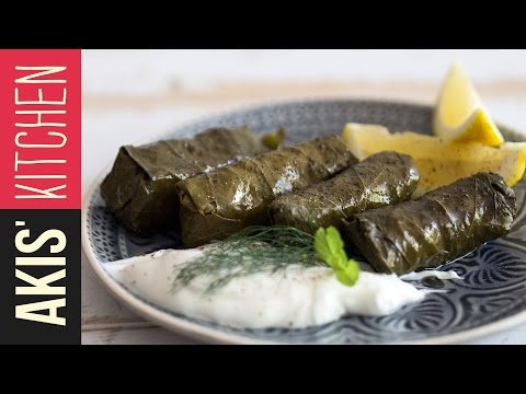 Greek Dolmades - Stuffed Vine Leaves | Akis Kitchen