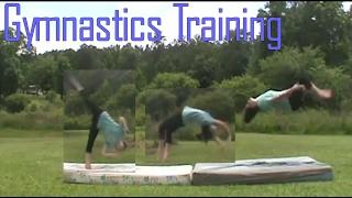 Gymnastics Training | Landing My Standing Back-tuck?!?! | Gymnastics 101