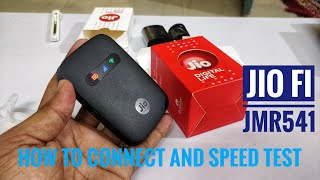Reliance Jio Fi 3 JMR 541 : Unboxing, How To Connect, Speed Test Wifi Router & Personal Hotspot 2021