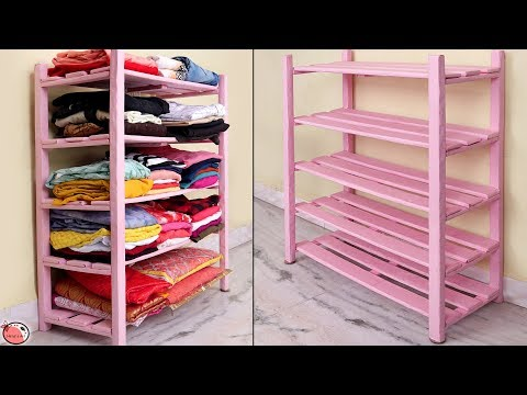 Multi Purpose !! Rack Organizer || DIY Cloth Cabinet