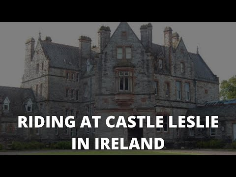 Riding at Castle Leslie in Ireland