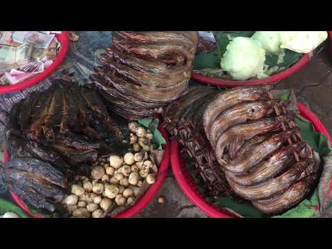 Asian Street Food - Country Food Selling In Cambodian Market - Market Food In Phnom Penh