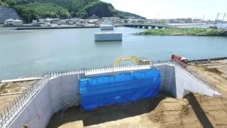 内海橋災害復旧下部工工事2017年6月撮影