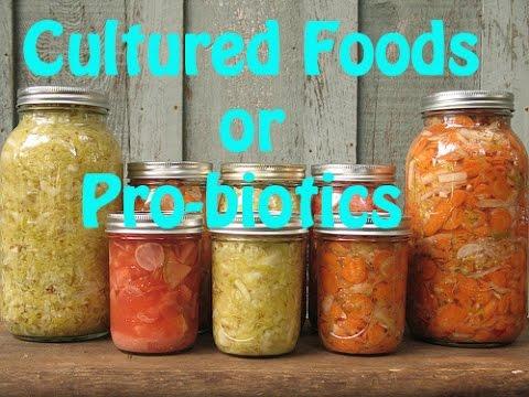 Cultured Foods vs. Pro-biotics