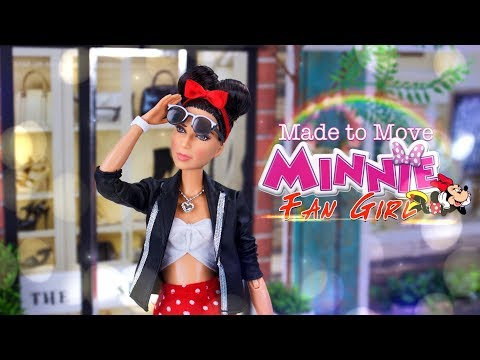 DIY - How to Make: CUSTOM Made to Move Minnie Mouse Fan Girl Gal Gadot Doll