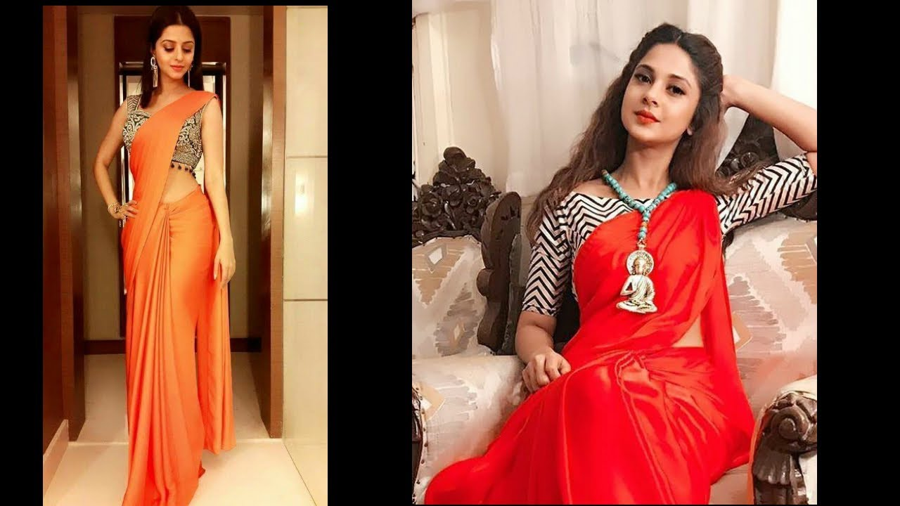 541f48d555a46 How to Mix and Match Blouse with Plain Saree