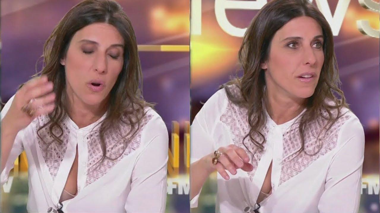 Nathalie Levy Terriblement Sexy En Petite Chemise Blanche Et Décolletée Bfm Tv 08 01 18 21h23 Youtube