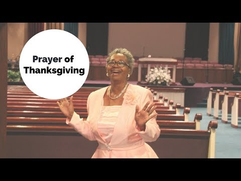 Intercessory Prayer of Thanksgiving