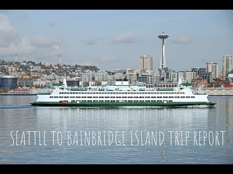 Seattle Ferry Ride To Bainbridge Island