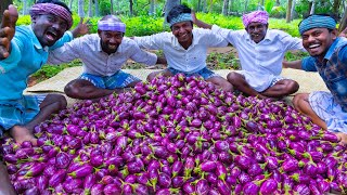 Download BRINJAL CURRY | Oil Brinjal Curry Recipe Cooking in Village | Eggplant Recipes | Vegetarian Recipes