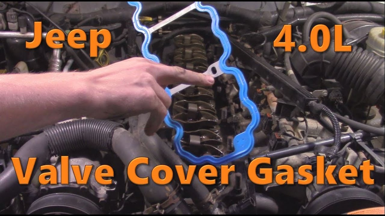 Jeep 4 0 Valve Cover Gasket Replacement Youtube