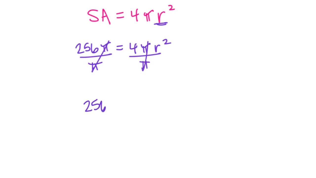 Find Radius given Surface Area of Sphere