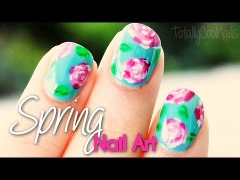 Spring Floral Nail Art | TotallyCoolNails