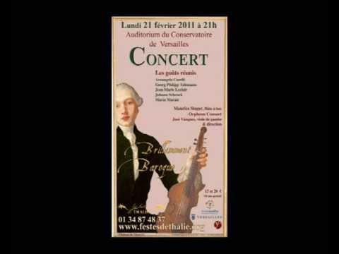 Marin Marais Prélude Suite en ré mineur deux violes et basse