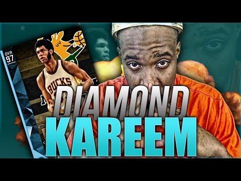 DIAMOND Kareem Abdul-Jabbar! UNSTOPPABLE POST HOOK! NBA 2k16 MyTeam Gameplay