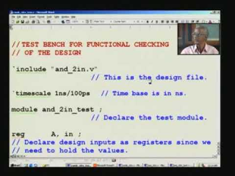 Lecture 16 - Writing a Test Bench