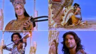 Karnan death scene    real warrior    mahabharatham important scene