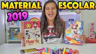 MEU NOVO MATERIAL ESCOLAR 2019! - JULIANA BALTAR