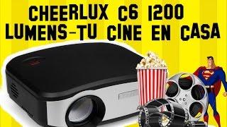 REVIEW PROYETOR CHEERLUX C6 en Español | Tu CINE en casa por menos de $82 |TV| Proyector Barato 💵