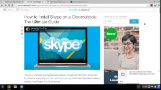How to Install Skype on a Samsung Series 3 Chromebook