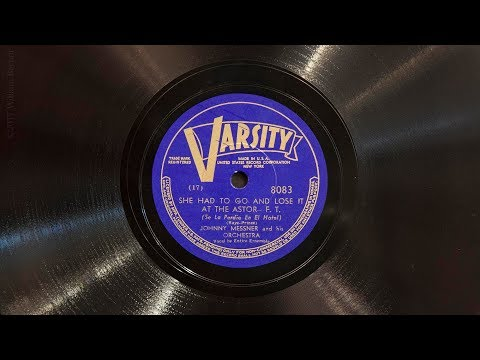 She Had to Go and Lose It at the Astor • Johnny Messner & His Orchestra (EMG Mark IX Gramophone)