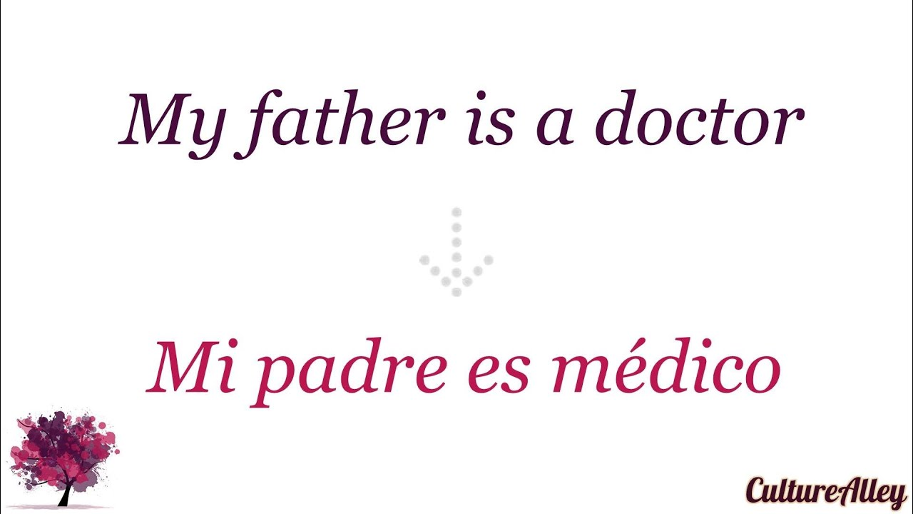 Answering to 'What does your father do?' in Spanish