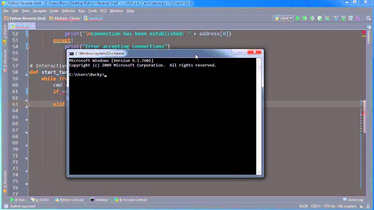 Python Reverse Shell Tutorial - 9 - Creating a Custom Interactive Shell
