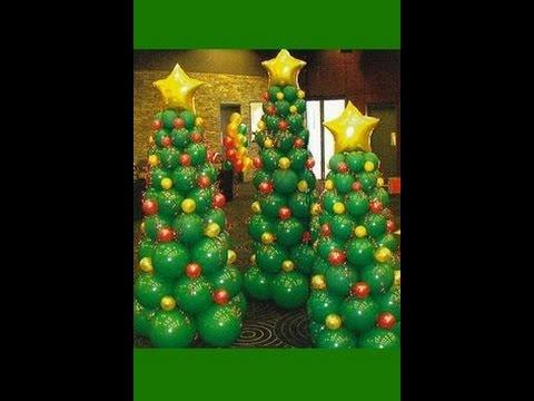 Como se hace un arbol de navidad con globos