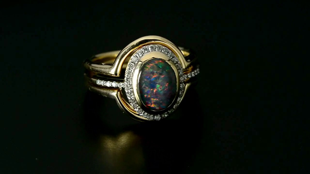 Black Opal Diamond Engagement & Wedding Rings By Andersonbeattie
