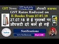 Changes in GST Rates on E Books from 27.07.2018 Notification GST News 409