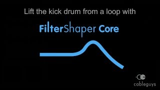 lift the kick drum from a song with filtershaper core