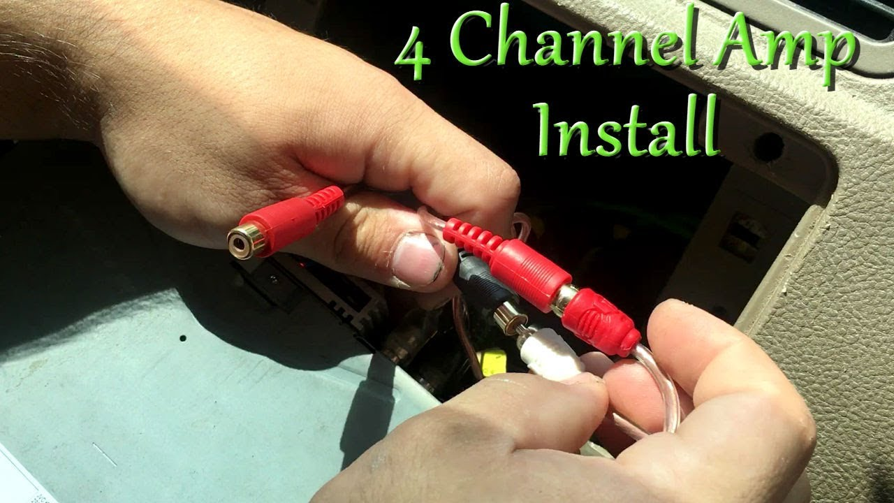 How To Install a 4 Channel Amp EASY