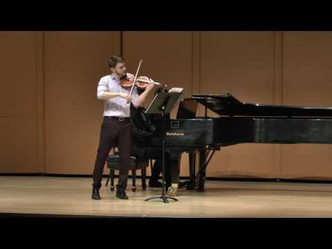 Ari Isaacman Beck at the Elmar Oliveira International Violin Competition
