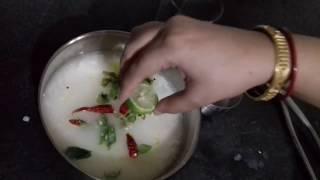 "how to prepare ""Pakhala""/""Dahi Pakhala""(Curd water Rice)Odia recipe"