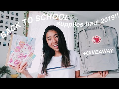 BACK TO SCHOOL SUPPLIES HAUL 2019 + GIVEAWAY