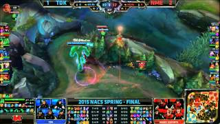 TDK (Seraph Shyvana) VS NME (Innox Kassadin) Game 4 Highlights {EPIC} - 2015 NA CS Spring Final